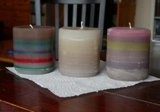 gerecycelde kaarsen